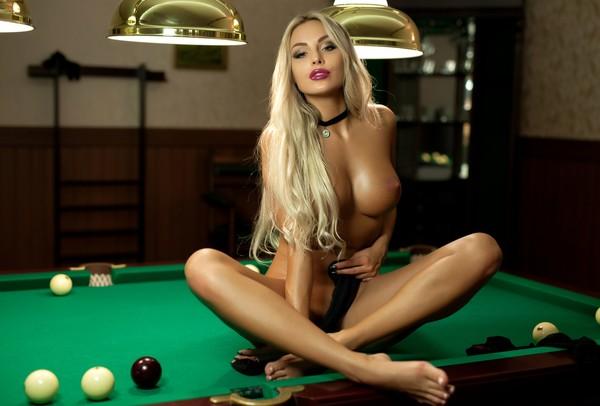 Maria Plays With Hard Billiards Balls Freeones 1